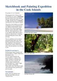 Sketchbook and Painting Expedition in the Cook Islands