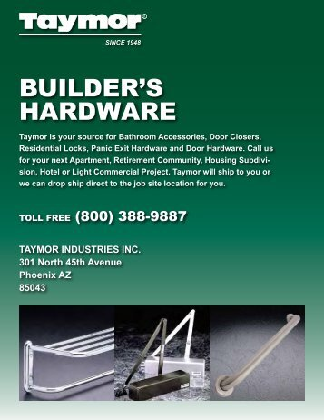 BUILDER'S HARDWARE
