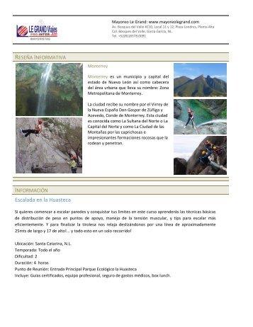 Escalada en la Huasteca