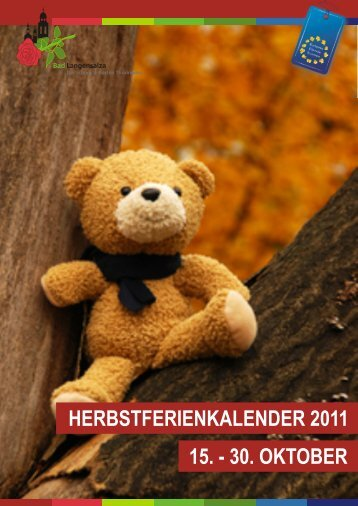 herbstferienkalender 2011 15. - 30. oktober - Bad Langensalza