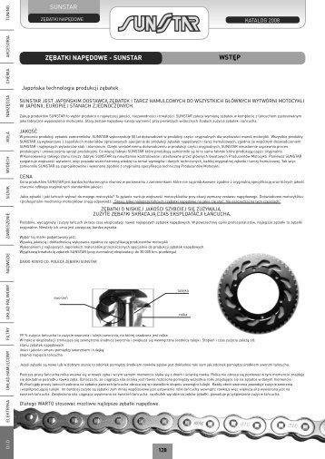 ZĘBATKI NAPĘDOWE - SUNSTAR WSTĘP - Motor-Land