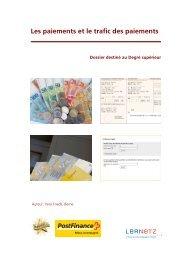 Les paiements et le trafic des paiements - Medienzentrum