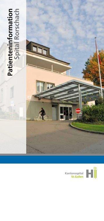 Patienteninformation Spital Rorschach
