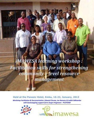 IMAWESA learning workshop : Facilitation skills for strengthening ...
