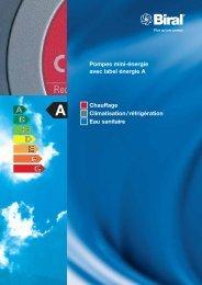 Pompes mini-énergie avec label énergie A Chauffage ... - Biral