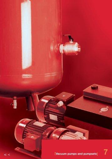 Vacuum pumps and pumpsets - Amet