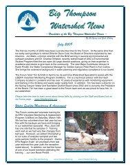Big Thompson Watershed News - Big Thompson Watershed Forum