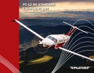PC-12 NG STANDARD EqUIPMENT LIST - Pilatus Asia