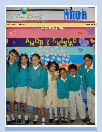 Cuarta edición. Febrero 2012 Revista escolar - Stratford