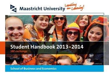 Student Handbook 2013-2014 - Maastricht University