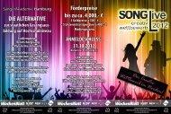SONGLive Creativ Wettbewerb 2012 - SängerAkademie Hamburg