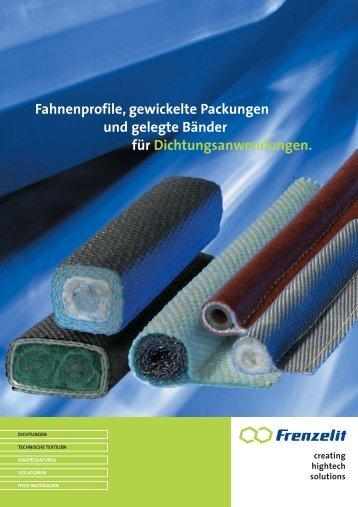Gewebedichtungen - Frenzelit-Werke GmbH & Co. KG