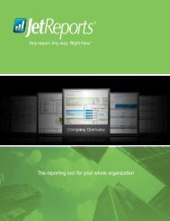 Jet Reports Overview Brochure - PASI