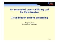 calibration archive processing - ESAC Trainee Project