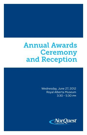 Annual Awards Ceremony and Reception - NorQuest College