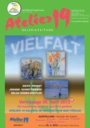 kunstzeitung Q2 2013 - Atelier 19