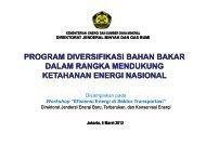 Program Diversifikasi Bahan Bakar dalam rangka ... - IESR