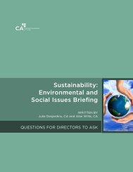 Sustainability: Environmental and Social Issues Briefing - Canadian ...