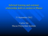 Informal Learning and Customer Relationship Skills in Casinos in ...