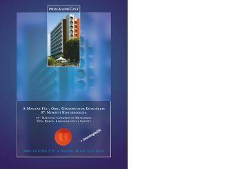 Programfüzet pdf formátumban - PTE ÁOK Fül-Orr-Gégészeti és Fej ...