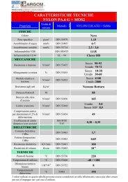 CARATTERISTICHE TECNICHE NYLON PA.6 G + MOS2 - Sargom Srl