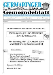 Einladung zum Vortrag mit Diskussion - Gemeinde Germaringen