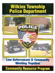WTPD Community Resource Program - Wilkins Township
