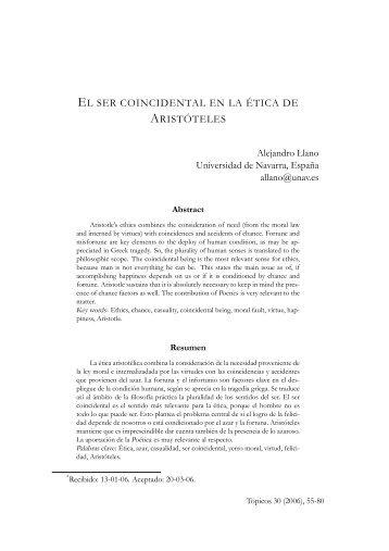 EL SER COINCIDENTAL EN LA ÉTICA DE ARISTÓTELES