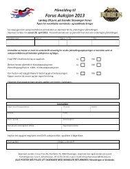 PÃ¥melding til Forus Auksjon 2013 - Forus Travbane