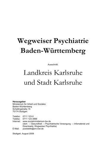 Wegweiser Psychiatrie Baden-Württemberg Landkreis Karlsruhe ...