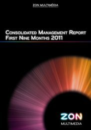 Consolidated Management Report First Nine Months 2011 - Zon
