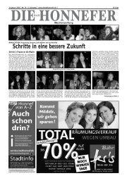 Schritte in eine bessere Zukunft  - Die Bad Honnefer Wochenzeitung
