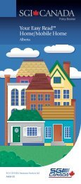 SGI CANADA Policy Booklet - Your Easy Read Home/Mobile Home