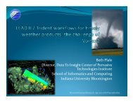 LEAD II / Trident workflows for timely weather products