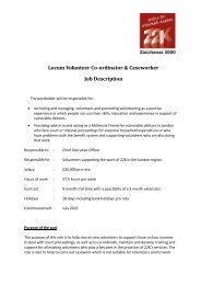 Locum Volunteer Co-ordinator & Caseworker Job Description