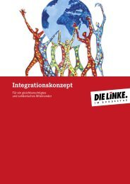 Integrationskonzept der Fraktion DIE LINKE - Dagmar Enkelmann