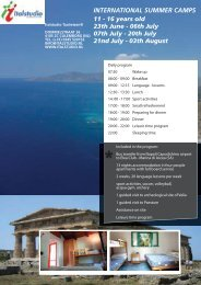 INTERNATIONAL SUMMER CAMPS - Italstudio