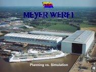 Planning vs. Simulation - wondermar ii