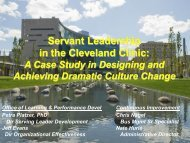 Servant Leadership in the Cleveland Clinic: - Greenleaf Center for ...
