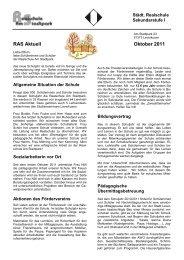 RAS Aktuell Oktober 2011 - Realschule Am Stadtpark