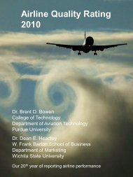 Airline Quality Rating 2010 - Atlas Travel International