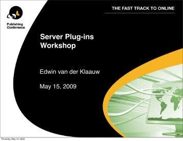 Server Plugins v6 Workshop.pdf - WoodWing Community