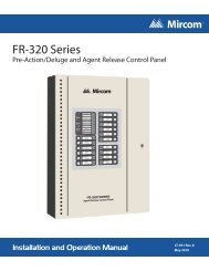 FR-320 Installation and Operation Manual - Mircom