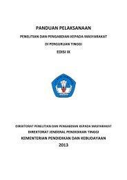 Buku panduan penelitian dan pengabdian kepada masyarakat edisi IX