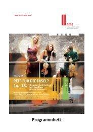 Programmheft - Hochschule für Musik und Theater Rostock