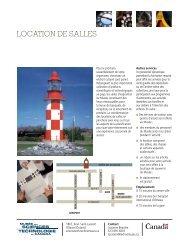 Location de salles - Musée des sciences et de la technologie du ...