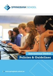 Policies & Guidelines - Springbank School