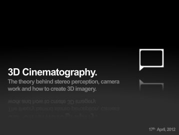 3D Cinematography.