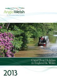 to download the 2013 brochure - Anglo Welsh Waterway Holidays