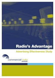Radio's advantage advertising effectiveness study - Commercial ...